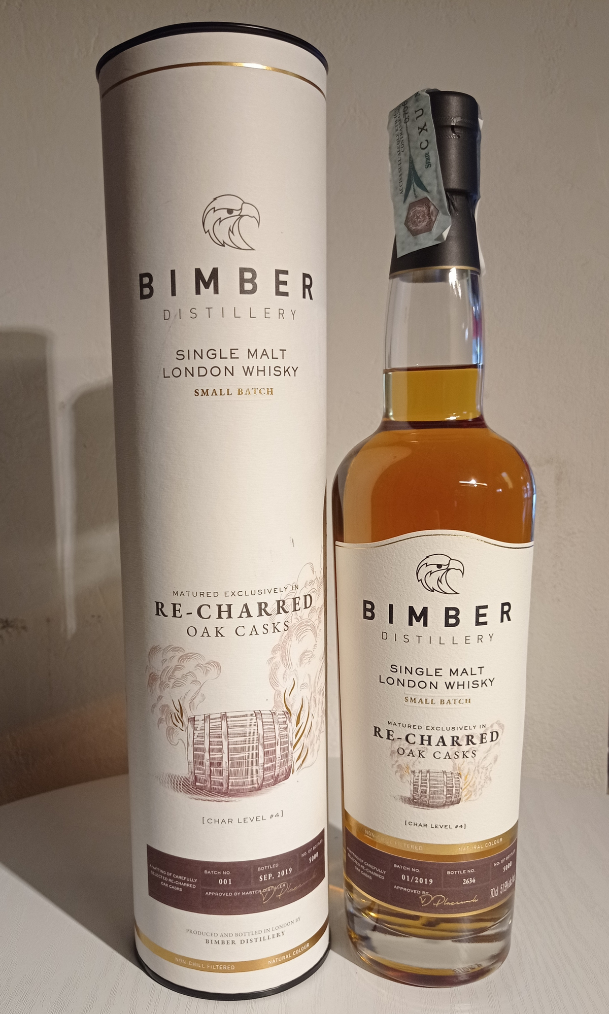 Bimber Single Malt Re-Charred Oak Cask Cask 3 YO